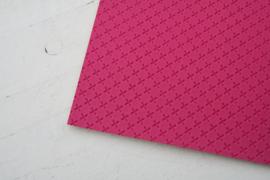 Leer kruisjes motief hot pink
