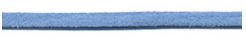 Imitatie suede veter fel blauw 3 mm
