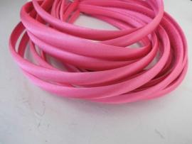 Diadeem satijn neon pink 1cm