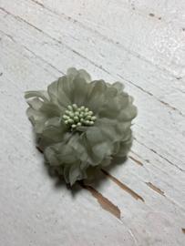 Vintage bloem old green 5cm
