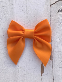 Satijnen brede strikjes oranje