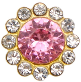 flatback rhinestone  luxe roze 1.2cm