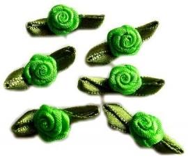 Roosjes met blad fel groen 2cm