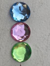 Flatback rhinestone  diamant 2.5 cm kies jou kleur (3)