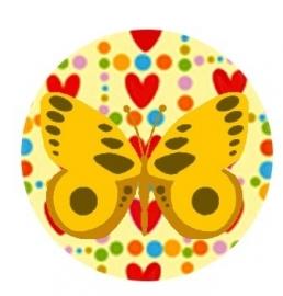 Flatback vlinder hart/stip