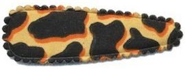 Kniphoesje panter/tijger zand katoen