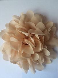 Bloemen chiffon 11 cm beige