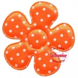 A0350 Polkadot bloemen oranje 3,5cm