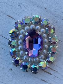 Luxe rhinestone diamant parels roze