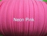 Skinny haarband elastiek neon roze