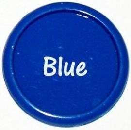 Plastic CAPS royal blauw