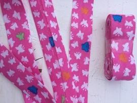 Biasband roze & vlinders
