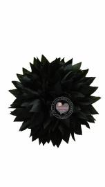 Bloem stof zwart 9.5cm