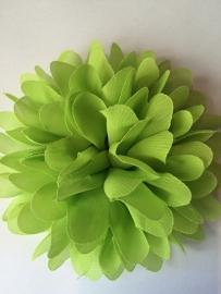 Bloemen chiffon 11 cm lime