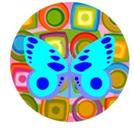 Flatback vlinder vrolijk