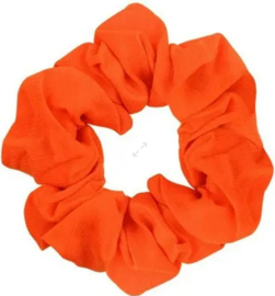 Scrunchies Haarwokkel oranje