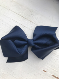 strik dubbel donkerblauw groot