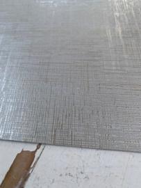 Leer structuur lijntjes zilver