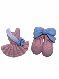 Balletschoentjes roze flatback