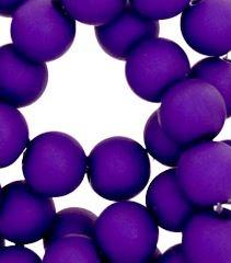 Kralen acryl mat 10 mm paars