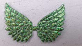 Vleugels  groen glitter