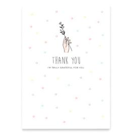 "Sieraden kaart ""Thank you"" Wit"
