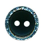 Knoop glitter rand zwart