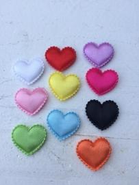 Hartje satijn 10 kleuren
