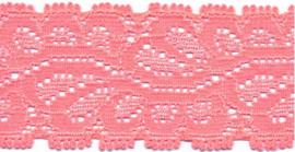 Elastisch kant (haarbandjes) zalm roze 3.5 cm