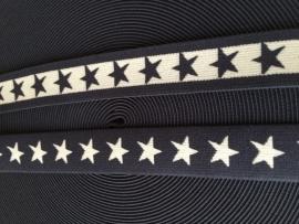 elastisch sterrenband marine blauw