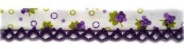 Biasband druifjes & paars kantje