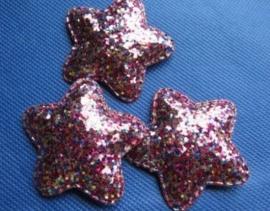 Ster grof glitter 5cm