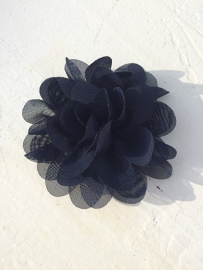 Chiffon bloem marine 7cm