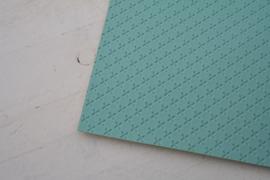 Leer kruisjes motief blue mint