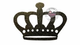 Glitter zwart Kroon
