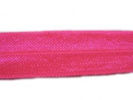 Elastisch biasband shocking pink (haarband) 1,5cm