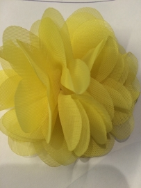 bloem chiffon  geel 8 cm
