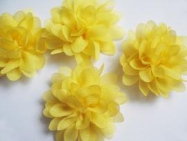 Chiffon bloem geel 6,5cm