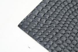 krokodillenprint lakleer zwart