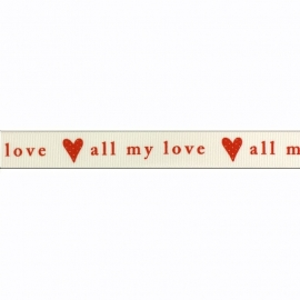 Sierband hartje all my love wit