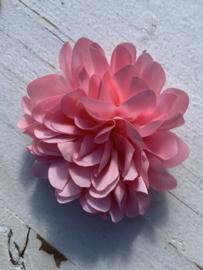 Bloem satijn 9 cm licht roze