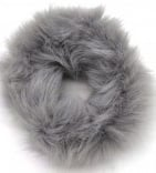 Scrunchie Haarwokkel fluffy  grijs
