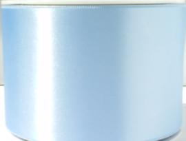 Satijnlint lichtblauw 7 cm