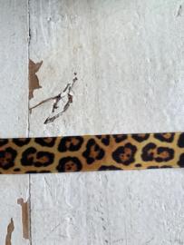 Satijnband tijger/panter 1.6cm