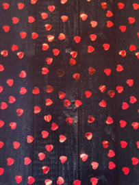 Leer jeans hartje fuchsia/rood