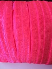 Elastisch biasband neon pink (haarband) 1,5cm