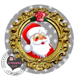 Flatback Kerstman lijst sneeuwvlok