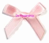(1) Strikjes baby roze 10st