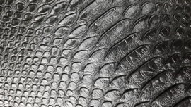 Leer krokodil structuur zwart
