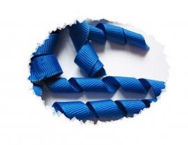 Krullen lint royal blue 7cm pst